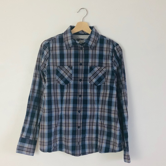 cheap sale shopping authentic quality NWT Tom Tailor Button Down Blue Plaid Shirt 38 (S) NWT